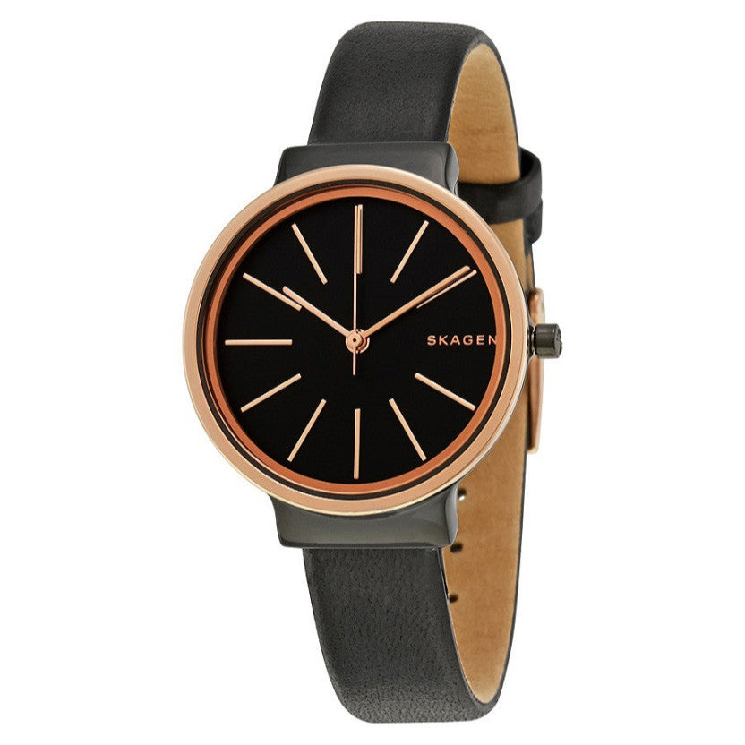 Ancher Black Dial Ladies Casual Watch