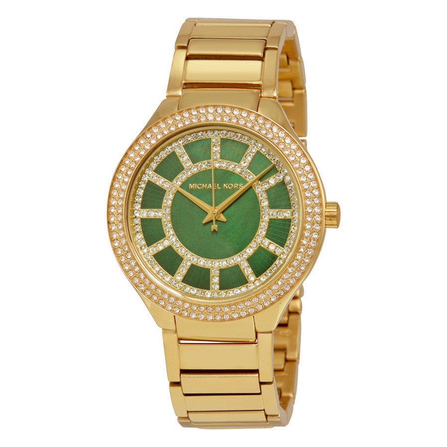 Kerry Green Crystal-set Dial Gold-tone Ladies Watch