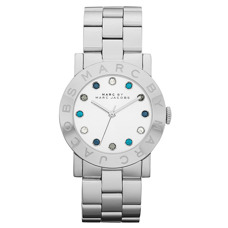 Amy White Multi Glitz Dial Stainless Steel Ladies Watch