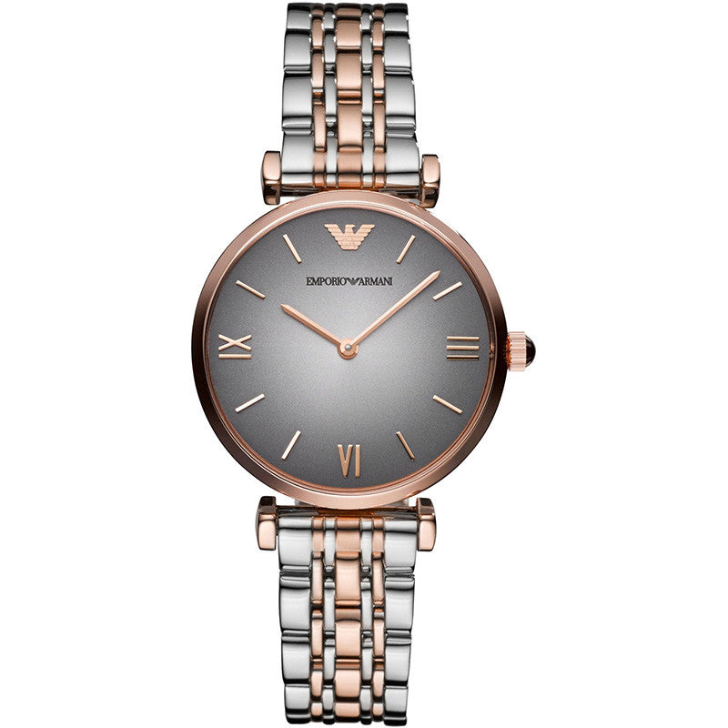 Grey Dial Two-Tone Stainless Steel Ladies Watch