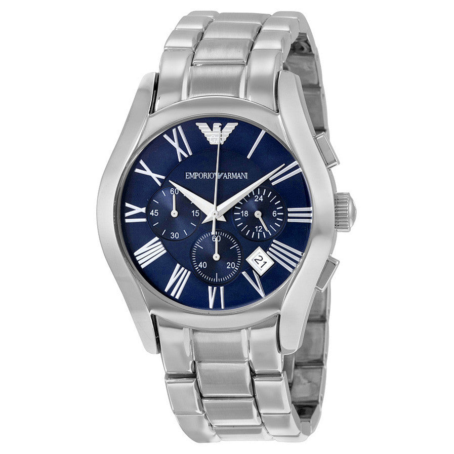 4c6dc2bb Classic Chronograph Blue Dial Stainless Steel Bracelet Men's Watch