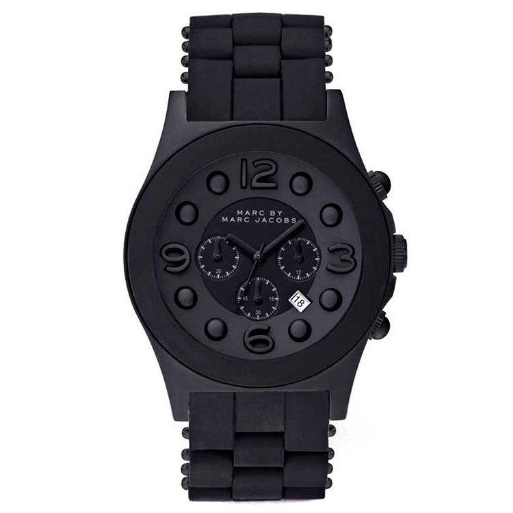 Pelly Black Theme Black-tone Stainless Steel Ladies Watch