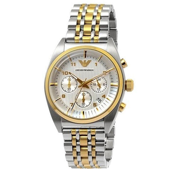 Chronograph Gold Dial Two-tone Men's Watch