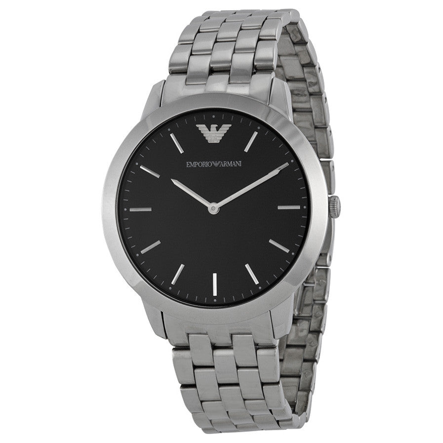 Retro Black Dial Stainless Steel Bracelet Men's Watch