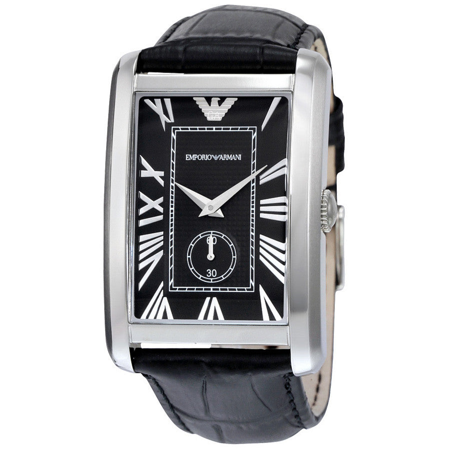 Classic Black Dial Stainless Steel Quartz Men's Watch
