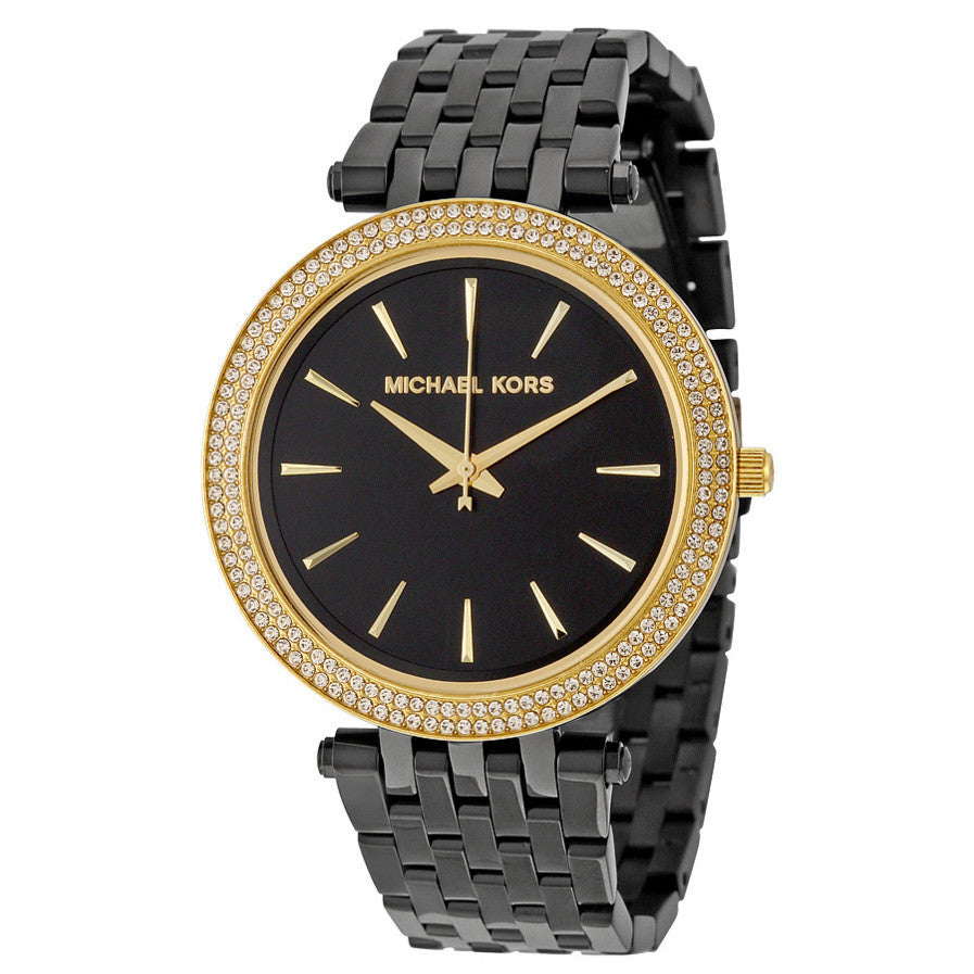 Darci Black Dial Black Ion-plated Ladies Watch