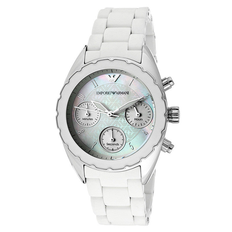 Chronograph Mother of Pearl Dial White Ladies' Watch