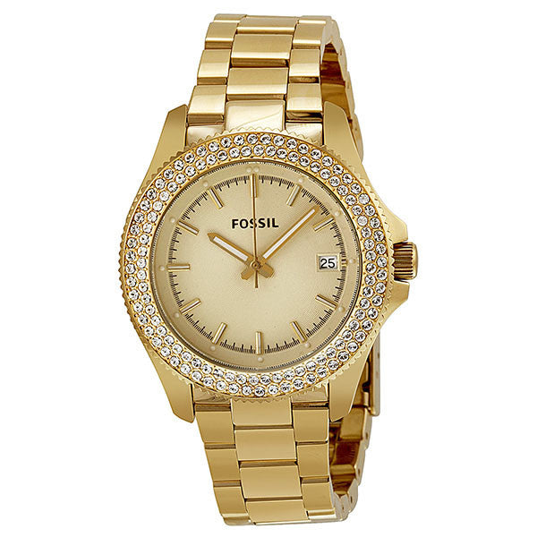 Retro Traveler Gold Dial Gold-tone Ladies' Watch