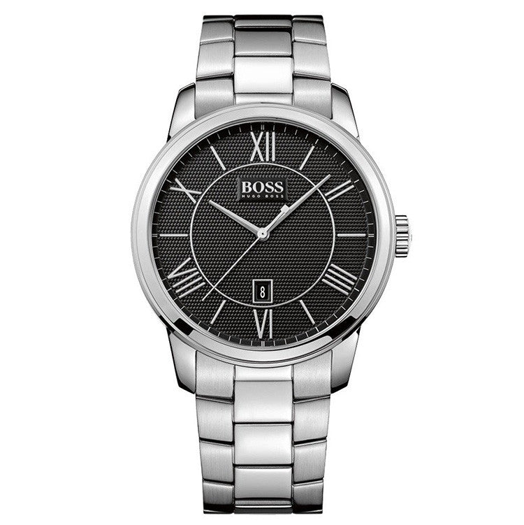 Black Dial Stainless Steel Bracelet Men's Watch
