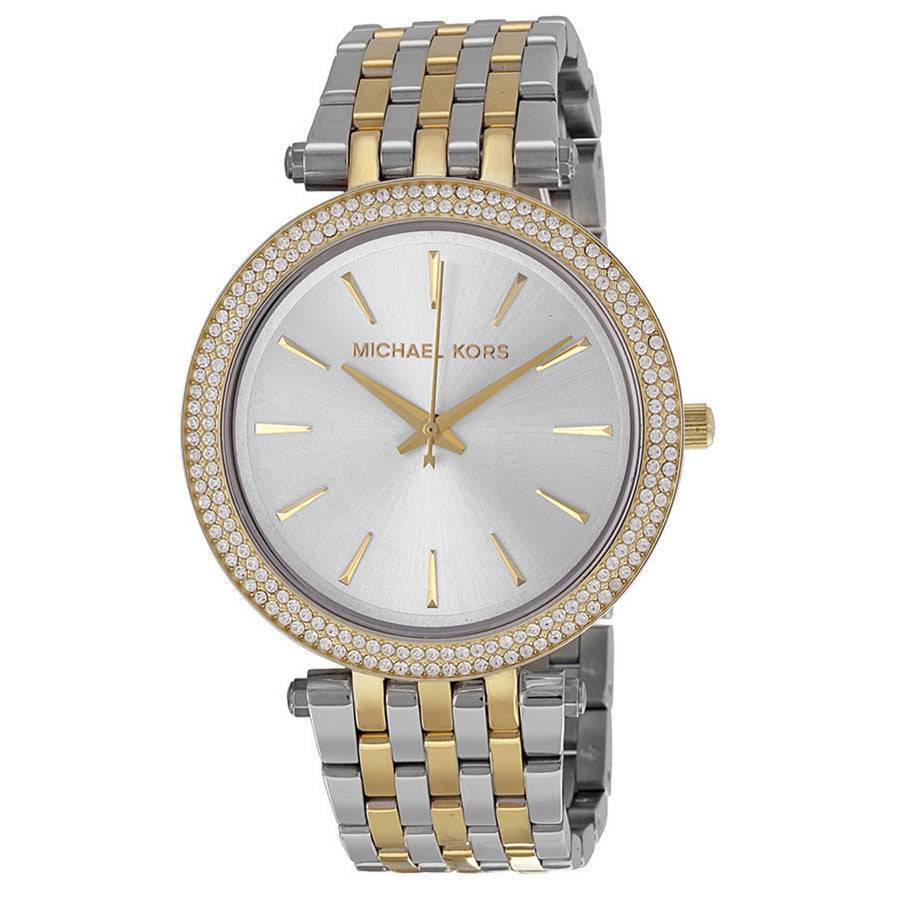 Darci Silver Dial Two-tone Ladies Watch