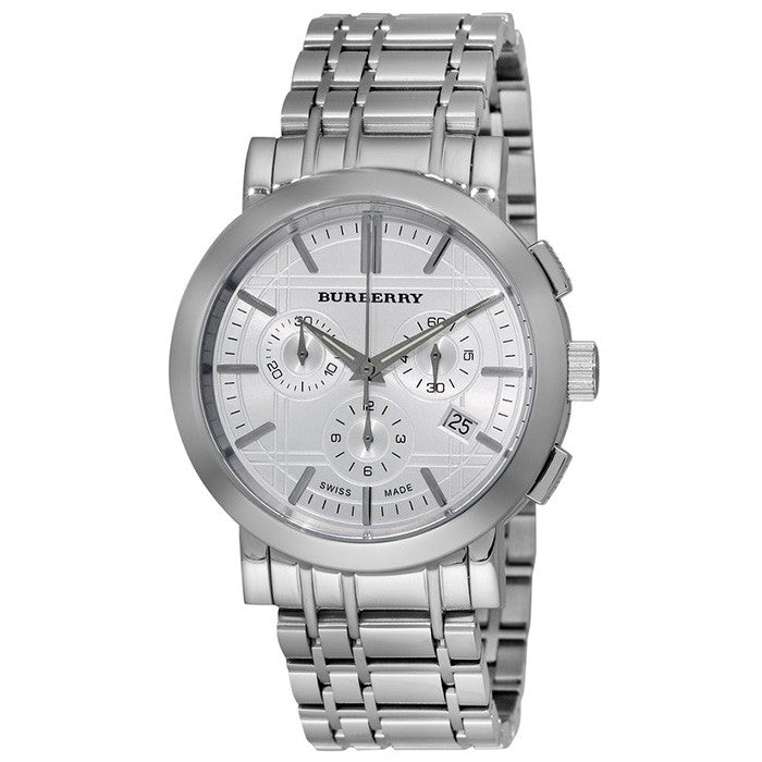 Heritage Silver Chronograph Dial Stainless Steel Watch