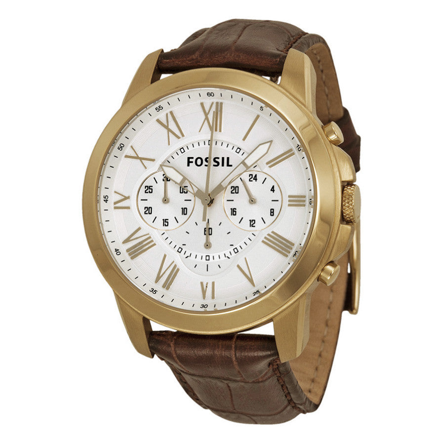 Grant Chronograph Silver Dial Gold-Tone Stainless Steel Men's Watch