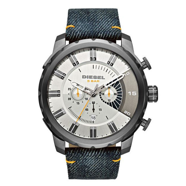Stronghold Silver Dial Blue Denim Men's Watch