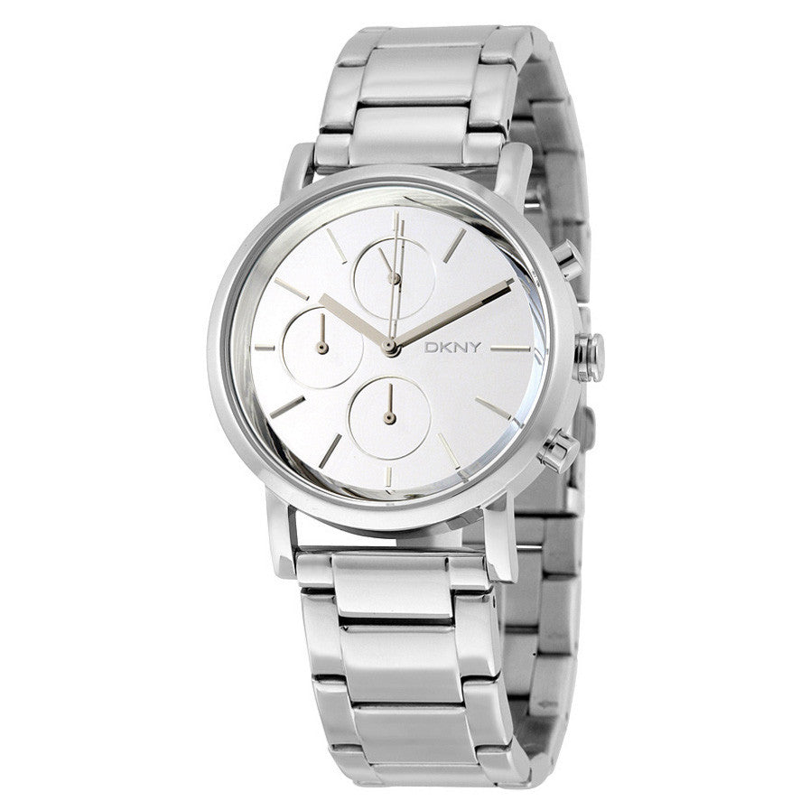 Lexington Chronograph White Dial Stainless Steel Ladies Watch