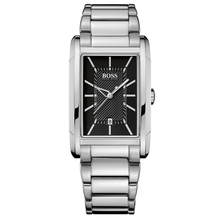 Black Dial Stainless Steel Men's Watch
