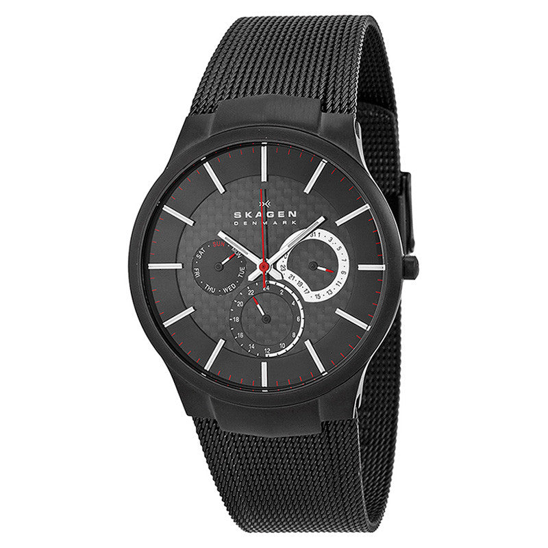 Black Titanium Multifunction Men's Watch