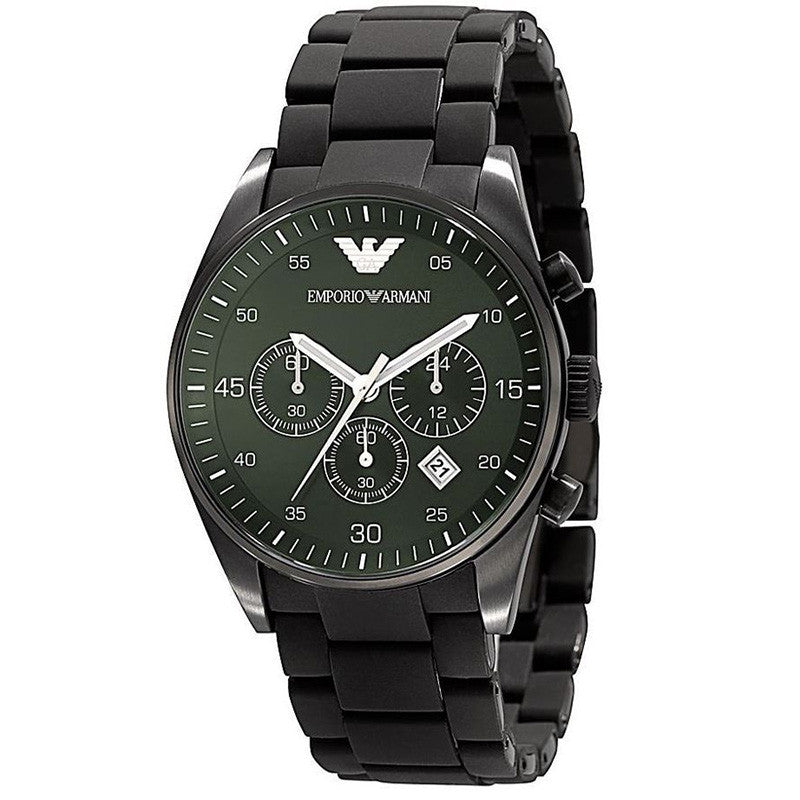 Emporio Green Dial Chronograph Men's Watch