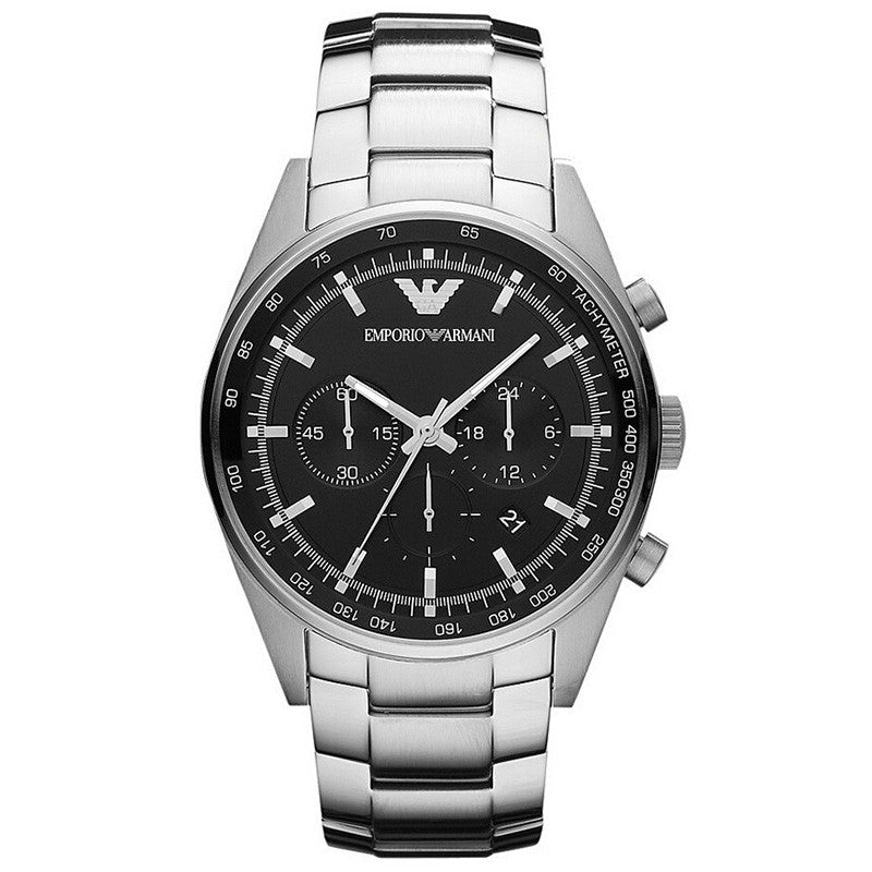 Sportivo Chronograph Black Dial Stainless Steel Men's Watch