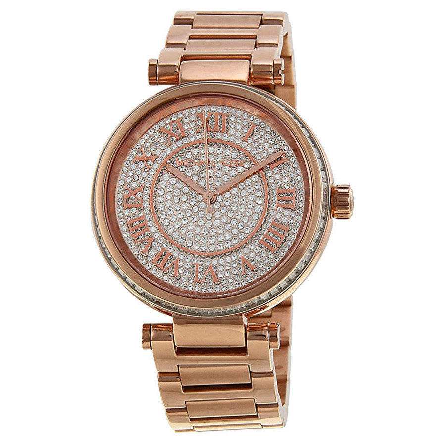 Skylar Crystal Pave Dial Rose gold-tone Ladies Watch