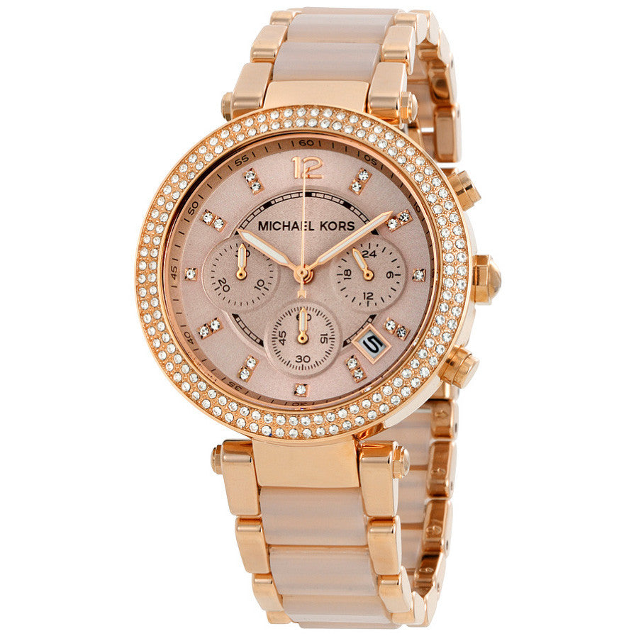 Parker Blush Dial Rose Gold-tone and Blush Acetate Ladies Watch