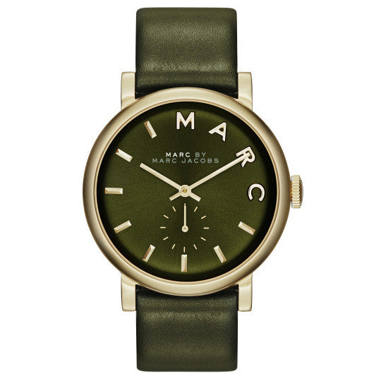 Baker Olive Dial Olive Leather Ladies Watch