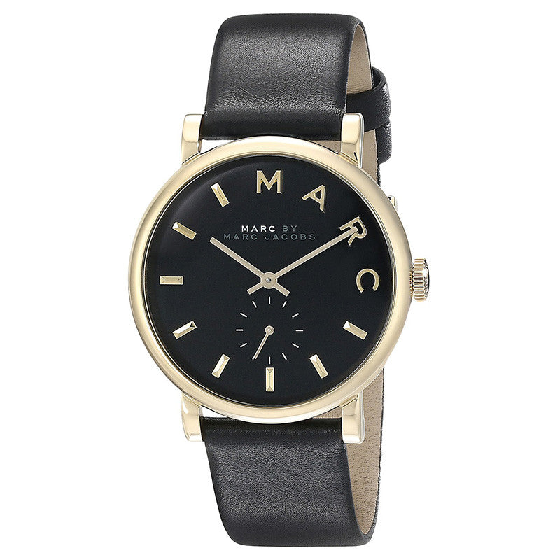 Baker Black Dial Leather Ladies Watch