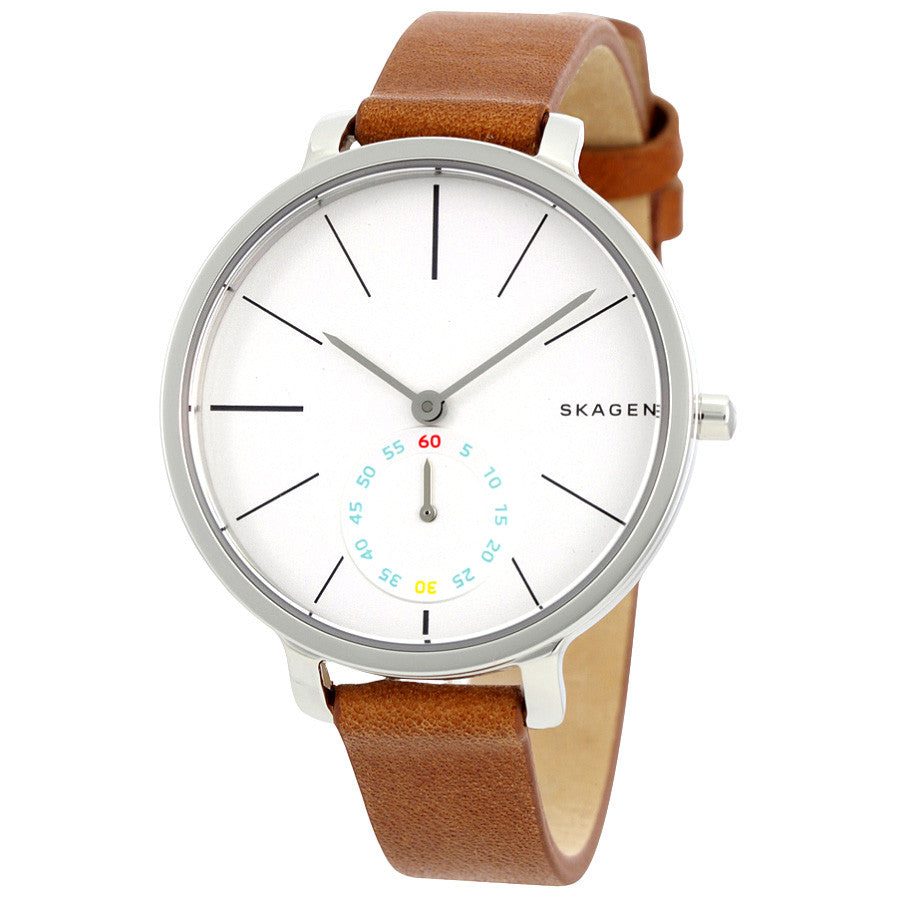 Hagen White Dial Ladies Quartz Watch