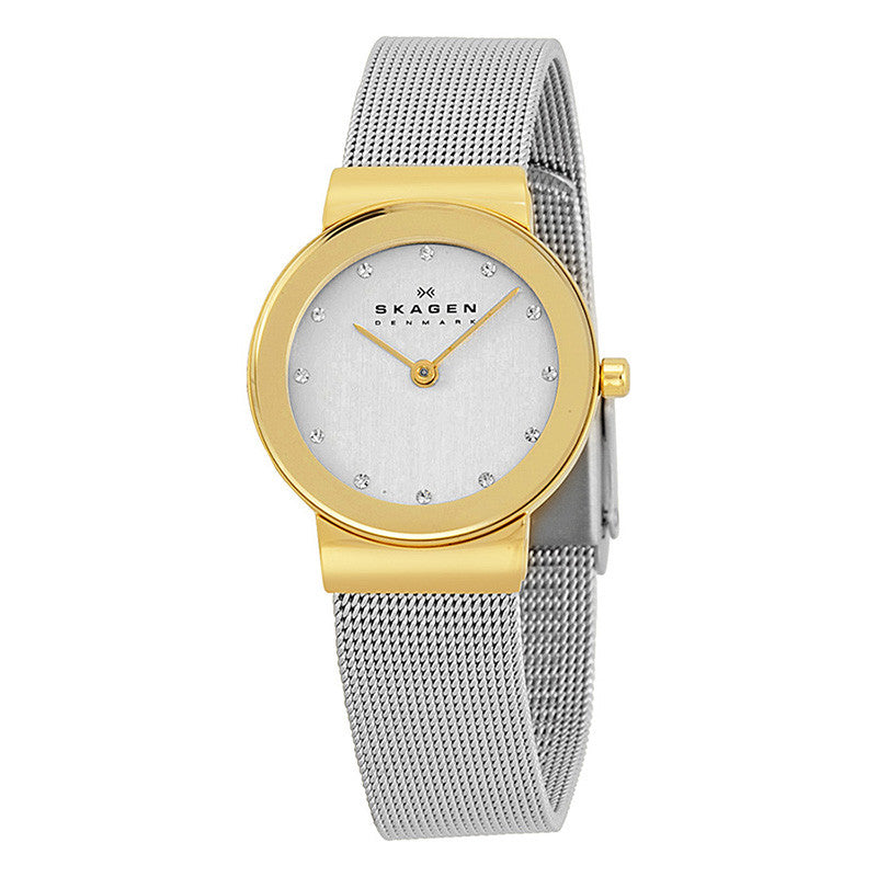 Freja Silver Dial Stainless Steel Mesh Ladies Watch