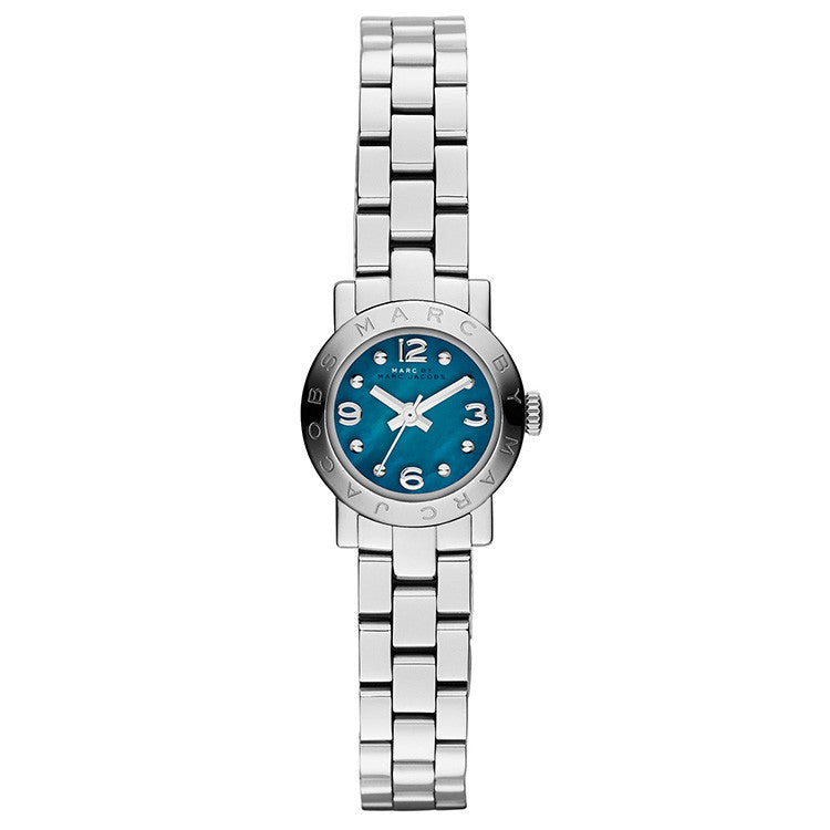 Amy Dinky Teal Dial Stainless Steel Ladies Watch