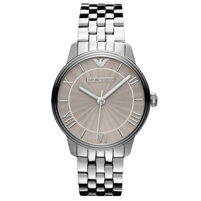 Gold Dial Stainless Steel Ladies Watch