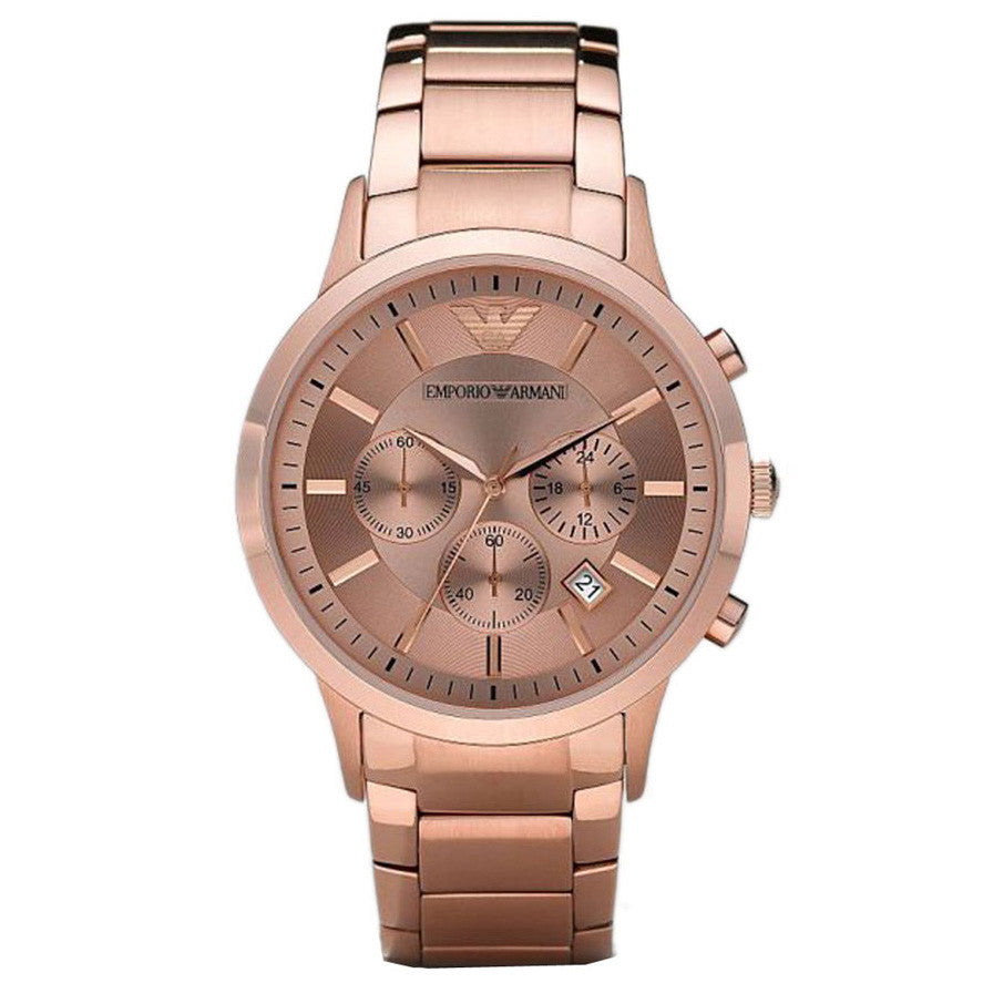Chronograph Rose-gold Dial Rose-gold Tone Steel Bracelet Men's Watch