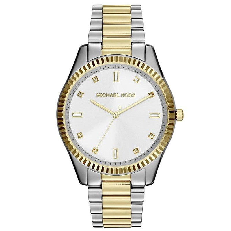 White Dial Two-tone Ladies Watch