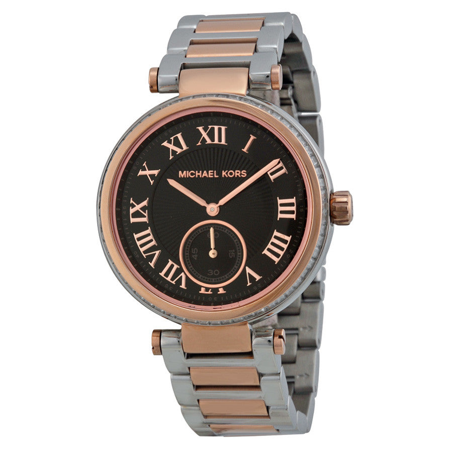 Skylar Black Dial Two-tone Ladies Watch