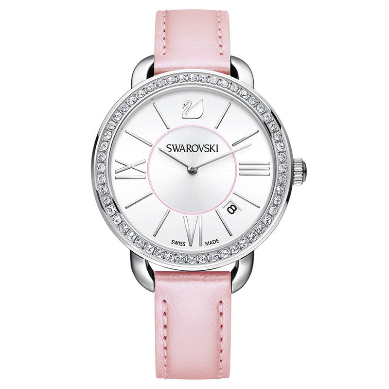 Aila Day Rose Crystal-paved Bezel Ladies Watch