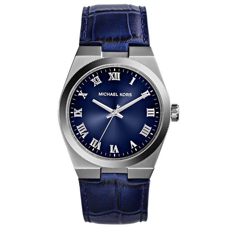 Channing Blue Dial Blue Leather Unisex Watch