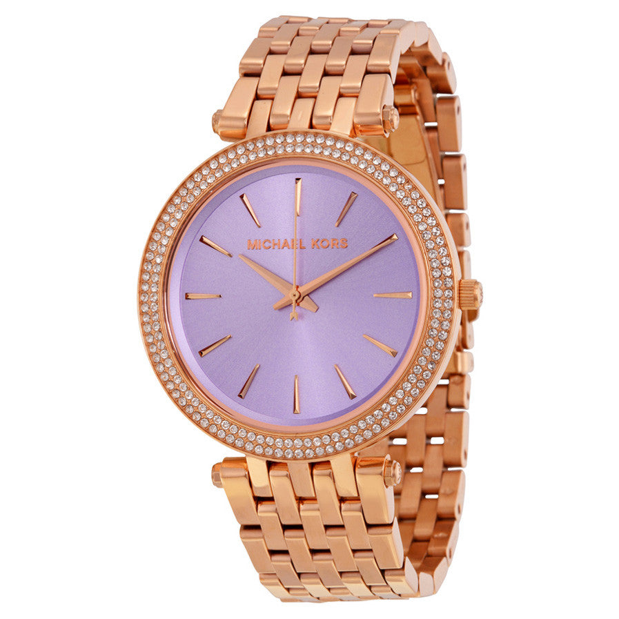 Darci Purple Dial Rose Gold-tone Ladies Watch