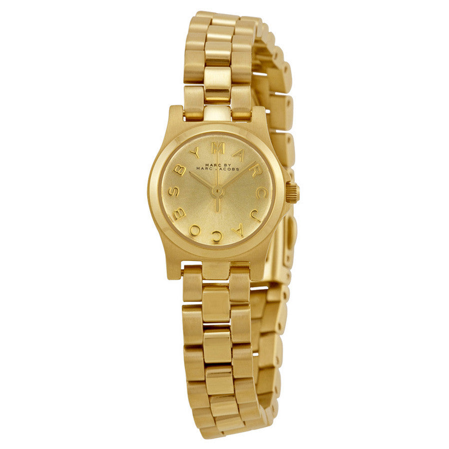 Henry Dinky Gold Dial Gold-tone Ladies Watch