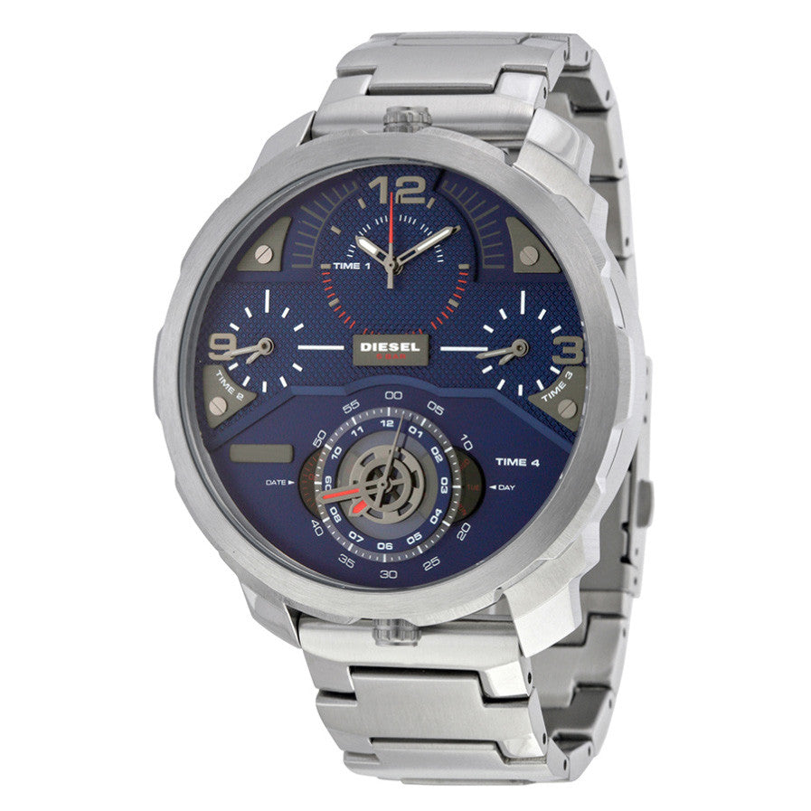 Machinus Chronograph Four Time Zone Dial Stainless Steel Men's Watch