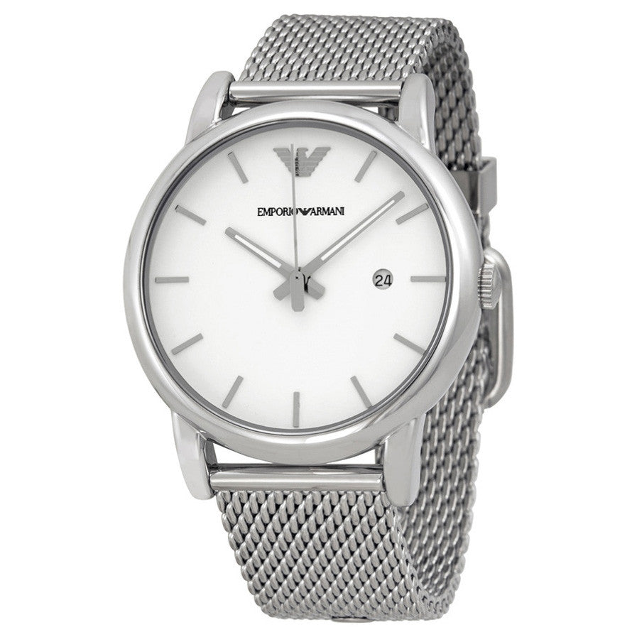 ca65ed32f83 Emporio Armani AR1812 Classic White Dial Stainless Steel Men s Watch ...