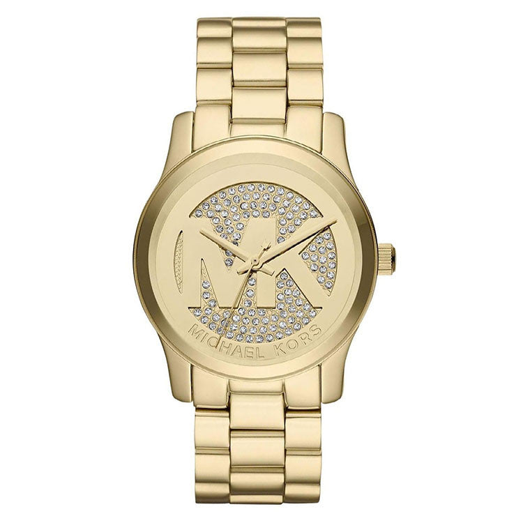 Glitz Runway Crystal Dial Gold-tone Ladies Watch
