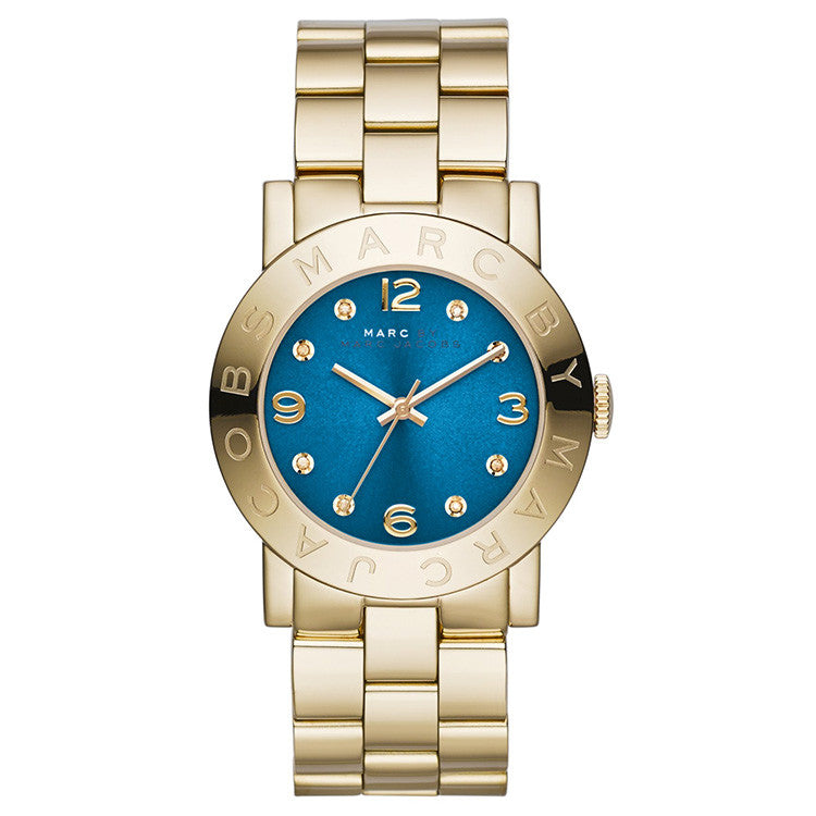 Amy Blue Dial Gold-tone Ladies Watch