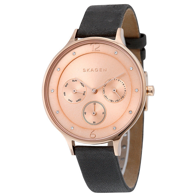 Anita Rose Gold-Tone Leather Ladies Watch