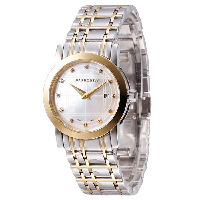 Heritage Diamond Mother of Pearl Dial Two-tone Stainless Steel Ladies Watch