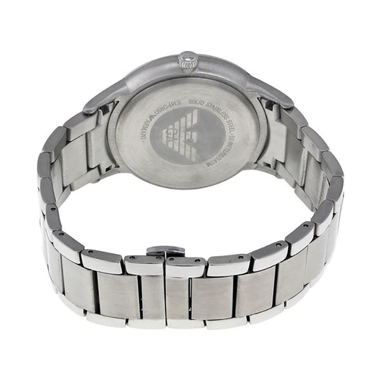 Emporio Classic Silver Dial Stainless Steel Men's Men's Watch