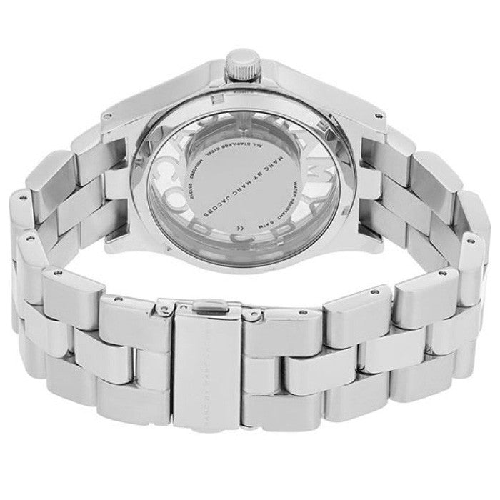 Henry Skeleton Dial Stainless Steel Ladies Watch