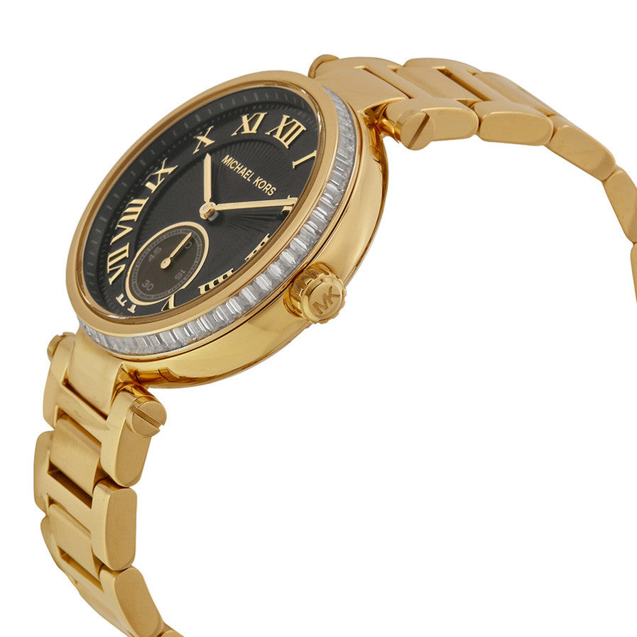 Skylar Black Dial Gold-tone Ladies Watch