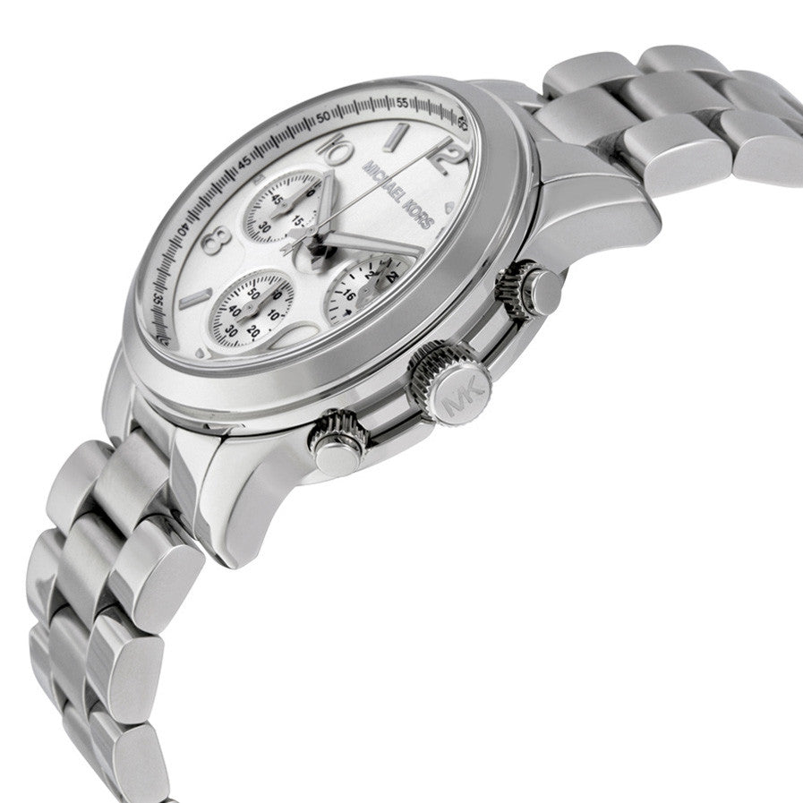 c3ad4c98849d Michael Kors MK5076 Silver Midsized Chrono Ladies Watch - 32° Watches