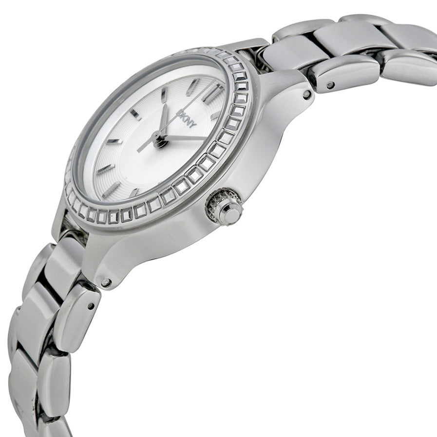 Chambers White Dial Stainless Steel Ladies Watch