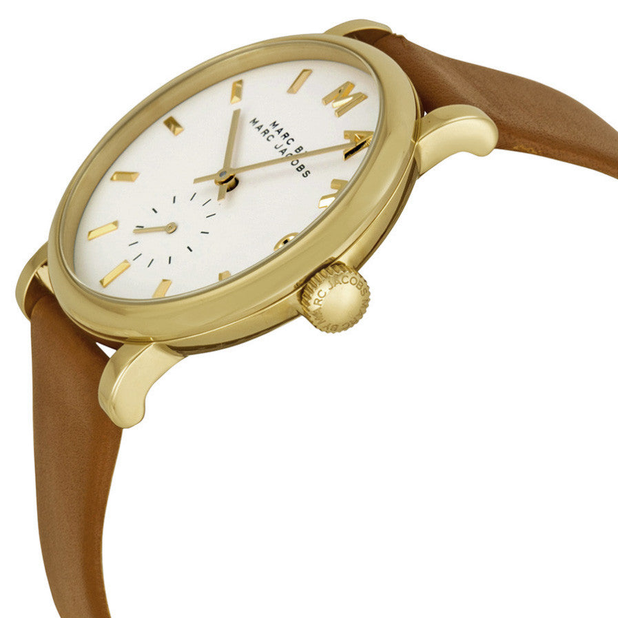 Baker White Dial Leather Ladies Watch