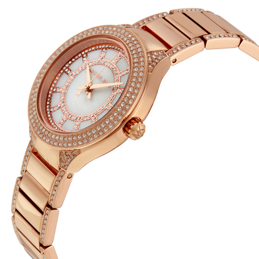 Mini Kerry Mother of Pearl Dial Rose Gold-Tone Ladies Watch